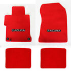 New 1995 - 2014 Acura Tl Red Custom Carpet Floor Mats 4pc Set Embroidered Logo