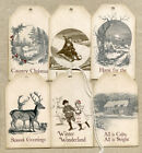 Hang Tags Vintage Style Mixed Winter Christmas Tags T 24 Gift Tags