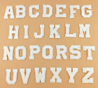 White Alphabet Letter Patch Embroidered Sew Iron On Badge Patches Applique Diy