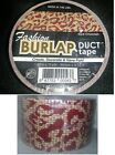 1 Roll Of Fashion Burlap Duct Tape Your Choice Of Colors Cheetah Stripes A28