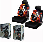 New Secret Six Suicide Squad Harley Quinn Front Pair Low Back Car Seat Covers