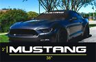 Ford Mustang Bold Text Windshield Logo Text Banner Vinyl Decal Sticker