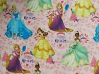 Disney Princess Fabric Listen To Your Heart Belle Rapunzel Cotton Fq Bthy Bty