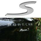 Oem S Emblem Badge Rear Lid Trunk Boot For Porsche 911 Boxster Cayenne Panamera