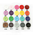 Resin Buttons Sewing Diy 100pcs 9mm 10mm 11.5mm 12.5mm 15mm 18mm 20mm 23mm 25mm
