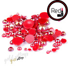 Acrylic Pearls Half Round Flat Back Beads 500 Mix Sizes For Nail Art Makeup