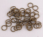 Silver Gold Bronze Copper Twist-ring Charm Finding For Jewelry Making 8mm Zl127