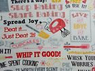 Baking Words Fabric Quilting Sewing Ivory Cotton Timeless Treasures Bthy Bty