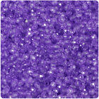 Beadtin Transparent 4mm Faceted Round Craft Beads 1250pcs - Color Choice