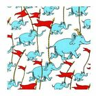 Dr Seuss R Kaufman Oh The Places Youll Go Elephants Flags Quilt Craft Fabric