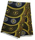 Black And Yellow African Print Fabric Dpap193