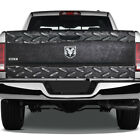 Diamond Plate Metal Torn Graphic Rear Tailgate Graphic Decal Truck Pickup Wrap