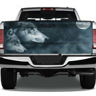 Wolf Moon Fantasy Blue Wolves Rear Tailgate Graphic Decal Truck Pickup Wrap Suv