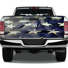American Flag Fabric Stars Graphic Rear Tailgate Graphic Decal Truck Pickup Wrap