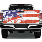 American Flag Grunge Wrap Graphic Rear Tailgate Graphic Decal Truck Pickup Cast
