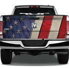 American Flag Fabric Star Graphic Rear Tailgate Graphic Decal Truck Pickup Wrap
