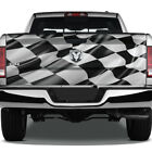 Checkered Flag Race Wave Graphic Rear Tailgate Graphic Decal Truck Pickup Wrap