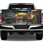 Winged Fire Woman Shooter Graphic Rear Tailgate Graphic Decal Truck Pickup Wrap