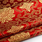 Chinese Embroidery Flower Brocade Silky Satin Fabric For Dress Quilting By Meter