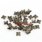 100pc Retro Silvergoldenbronze Tone Leaf Bead Cap 6mm Charm Jewelry Finding Hi