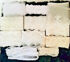 10y Lot Premium White Lace Trims Wholesale Embroidery Cotton Tulle Sewing Diy
