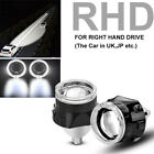 2pcs 2.5 Bi-xenon Projector Lens With Angel Eyes Ring Hid Headlight H1 H4 H7