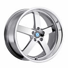 20x8.5 Beyern Rapp Chrome Wheels 5x120 20mm Set Of 4