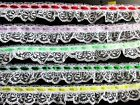 Lovely Ruffled Lace Trim With Ribbon Selling By The Yard Select Color