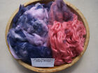 Wool Spinning Fiber Locks Crafts Doll Hair Colors 1oz Pink Purple Etc