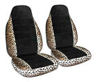 Animal Print Black Car Seat Covers For Any Cartruckvansuvjeep - Front 30cc