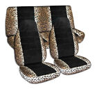 Animal Print Black Car Seat Covers For Any Cartruckvansuvjeep - Full Set
