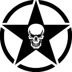 Jeep Army Star With Skull Vinyl Decal