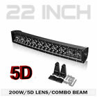 22 32 42 Inch 5d Curved Led Light Bar Black Pearl Lens Combo For Jeep Offroad