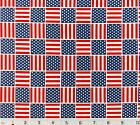United States Vote Flags Patriotic Stars Stripes Cotton Fabric Red White Blue