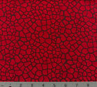 Red Brown Stained Glass Cotton Quilting Fabric Reptile Lizard Snake Choose Size