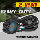 Wiring Harness Kit Heavy Duty 12v 40amp Fuse Relay Switch For Led Light Bar Car