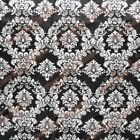 Damask Print Charmeuse Satin Fabric 58 Inches Width Sold By The Yard