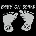 Baby On Board Honda Sticker - Auto Child Safety Decal - Choose Color Size