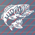 Bass Decal - Fishing Hunting Truck Boat Stickers