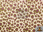 Glitter Leopard Stardust Crafting Vinyl Fabric 54wide Sold By The Yard