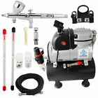Ophir Dual Action Airbrush Kit 110v Air Compressor For Hobby Cake Decoration