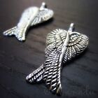 Angel Wing Wholesale Antiqued Silver Plated Charms C9219 - 10 20 Or 50pcs