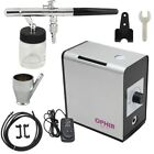 Ophiir 0.35mm Nozzle Dual Action Airbrush Compressor Kit For Cake Decoration