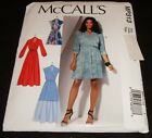 Mccalls 7534 Mp313 Mock Wrap Dress Fitted Through Bodice Sewing Pattern