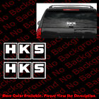 2 Pieces X Hks Performance Racing Vinyl Die Cut Decal Sticker Car Window Rc034