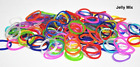 Authentic Rainbow Loom Silicone Rubber Bands Refill---jelly 600bands 24c Clips
