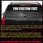 1 - 6 Height Custom Text Boat Name Vinyl Decal Car Windshield Decal Ft002