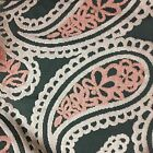 Victoria - Bold Paisley Cut Velvet Upholstery Fabric By The Yard - Available In