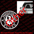 Protected By Ruger Firearms Car Windowphone Vinyl Die Cut Decal Sticker Fa084
