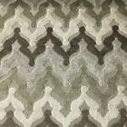 Lennon - Chevron Pattern Cut Velvet Upholstery Fabric By The Yard In 8 Colors